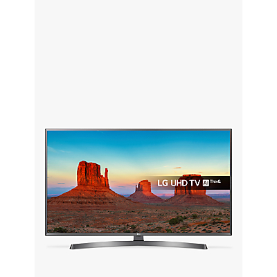 Image of LG 43UK6750PLD LED HDR 4K Ultra HD Smart TV, 43 with Freeview Play/Freesat HD & Crescent Stand, Black