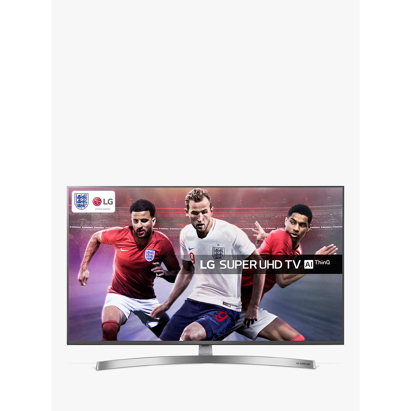 "BuyLG 49SK8100PLA LED HDR Super UHD 4K Ultra HD Smart TV, 49"" with Freeview Play/Freesat HD, Cinema Screen Design, Dolby Atmos & Crescent Stand, Silver Online at johnlewis.com"