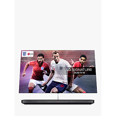 Image of LG OLED65W8PLA Signature OLED HDR 4K Ultra HD Smart TV, 65 with Freeview Play/Freesat HD, Picture-On-Wall Design & Dolby Atmos Sound Base Unit, Ultra HD Certified, Black