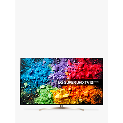 LG 55SK9500PLA LED HDR Super UHD 4K Ultra HD Smart TV, 55 with Freeview Play/Freesat HD, Cinema Screen Design, Dolby Atmos & Crescent Stand, Ultra HD Certified, Black