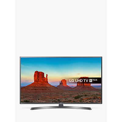 LG 55UK7550PLA LED HDR 4K Ultra HD Smart TV, 55 With Freeview Play/Freesat HD & Crescent Stand, Ultra HD Certified, Silver