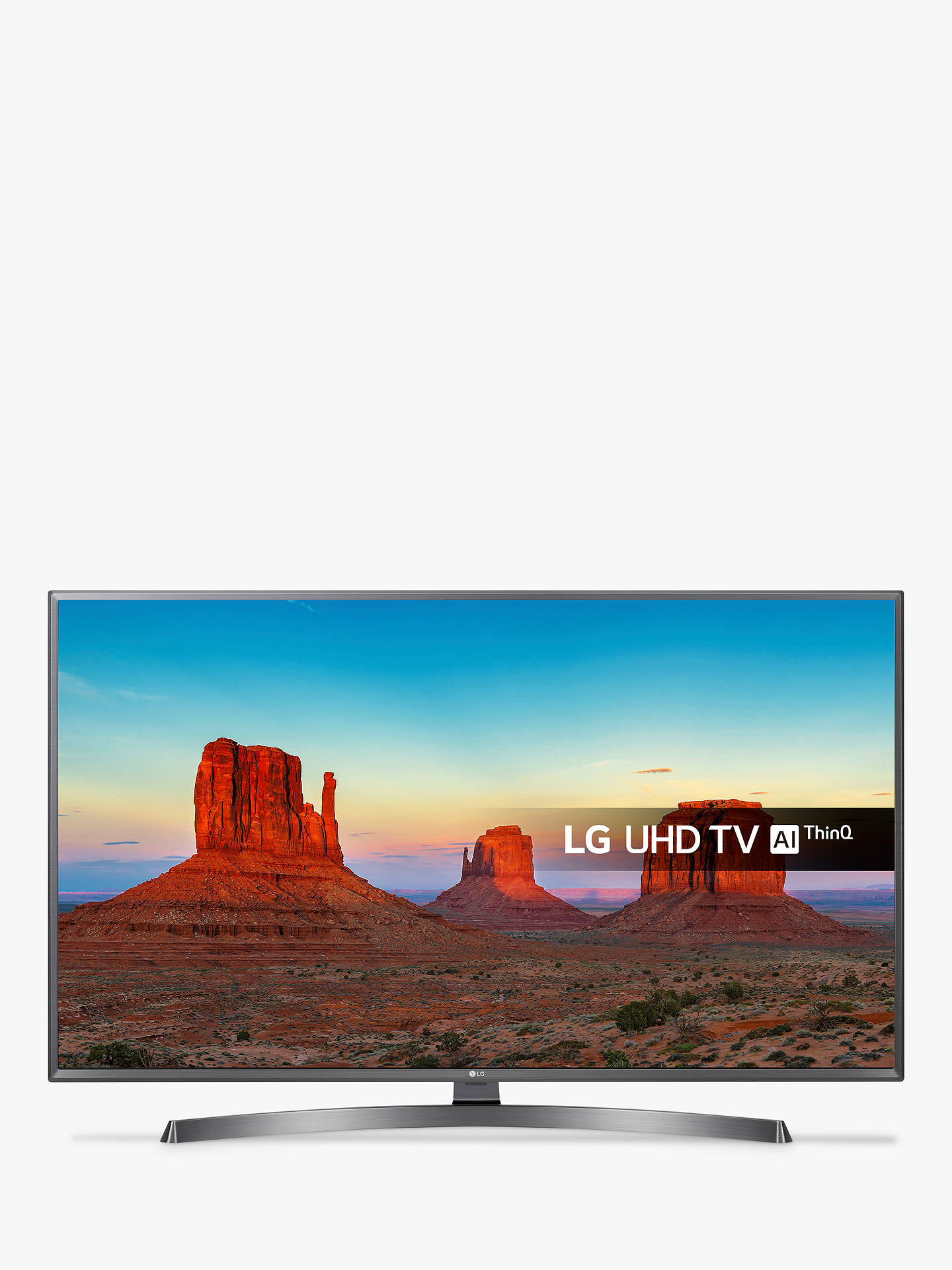 "BuyLG 55UK6750PLD LED HDR 4K Ultra HD Smart TV, 55"" with Freeview Play/Freesat HD & Crescent Stand, Ultra HD Certified, Metallic Grey & Black Online at johnlewis.com"