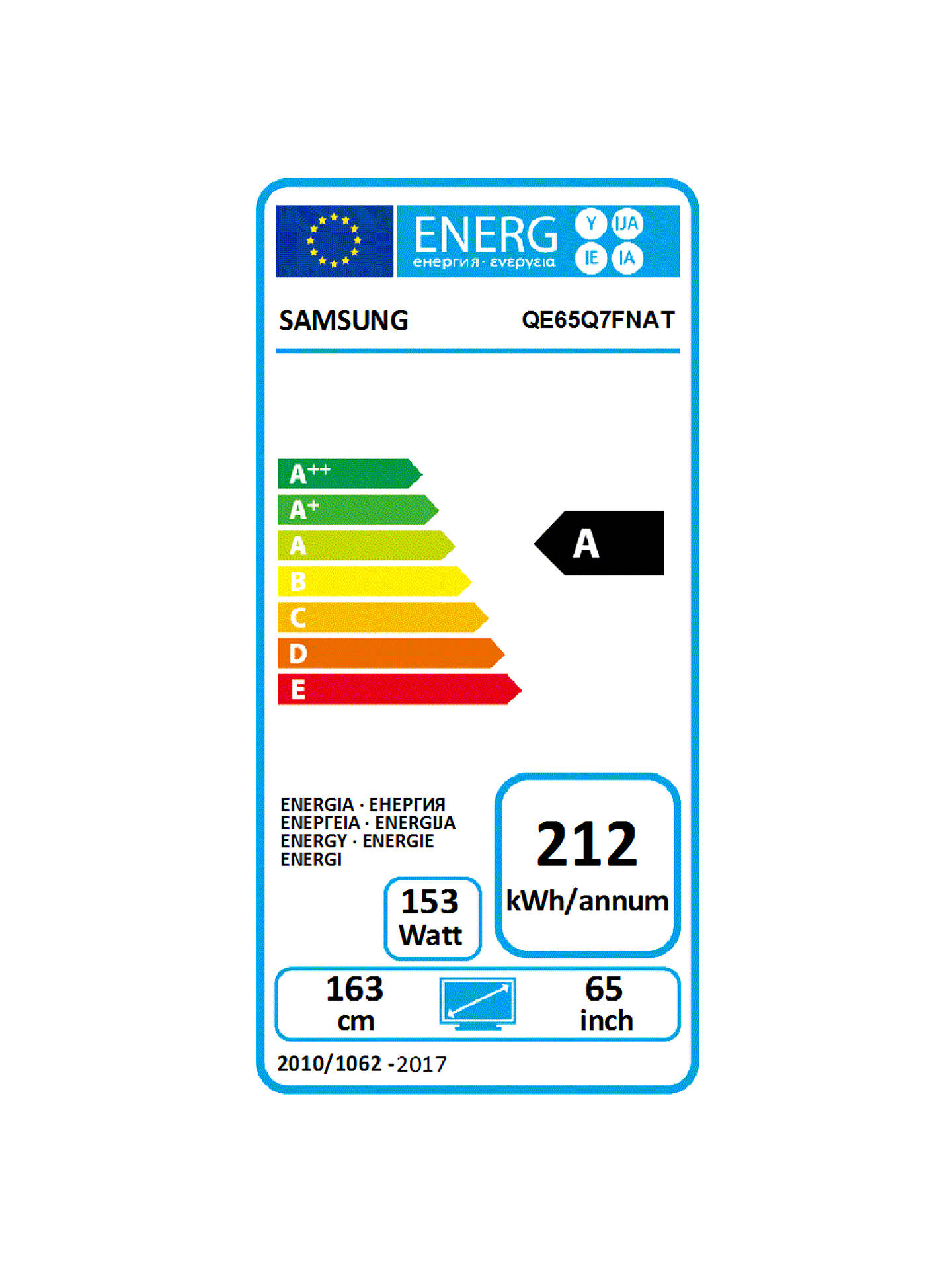 "BuySamsung QE65Q7FN (2018) QLED HDR 1500 4K Ultra HD Smart TV, 65"" with TVPlus/Freesat HD & 360 Design, Ultra HD Premium Certified, Silver Online at johnlewis.com"