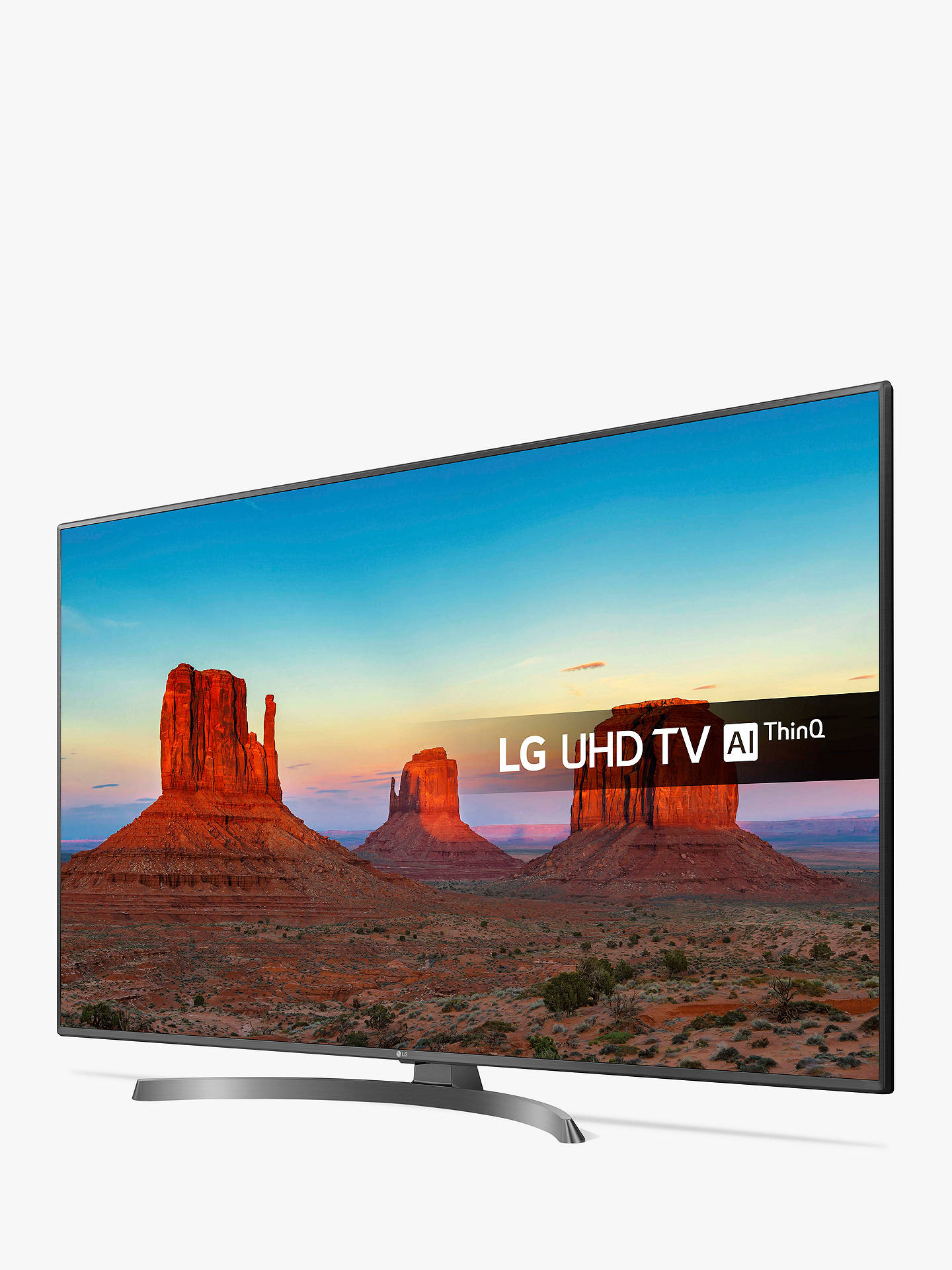 "BuyLG 65UK6750PLD LED HDR 4K Ultra HD Smart TV, 65"" with Freeview Play/Freesat HD & Crescent Stand, Ultra HD Certified, Metallic Grey & Black Online at johnlewis.com"