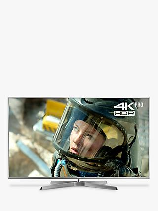 "Panasonic TX-75FX750B LED HDR 4K Ultra HD Smart TV, 75"" with Freeview Play/Freesat HD, Silver"