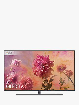 "Samsung QE55Q9FN (2018) QLED HDR 2000 4K Ultra HD Smart TV, 55"" with TVPlus/Freesat HD & 360 Design, Ultra HD Premium Certified, Black"