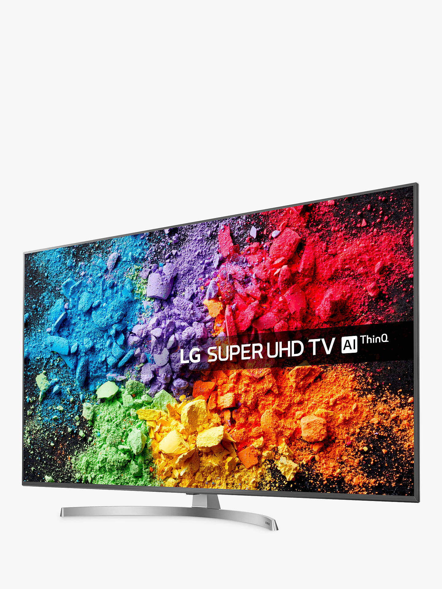 "BuyLG 65SK8100PLA LED HDR Super UHD 4K Ultra HD Smart TV, 65"" with Freeview Play/Freesat HD, Cinema Screen Design, Dolby Atmos & Crescent Stand, Ultra HD Certified, Silver Online at johnlewis.com"