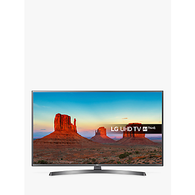 LG 49UK7550PLA LED HDR 4K Ultra HD Smart TV, 49 With Freeview Play/Freesat HD & Crescent Stand, Ultra HD Certified, Silver