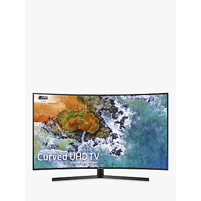 Samsung UE55NU7500 Curved HDR 4K Ultra HD Smart TV, 55 with TVPlus/Freesat HD, Dynamic Crystal Colour & 360 Design, Ultra HD Certified, Black
