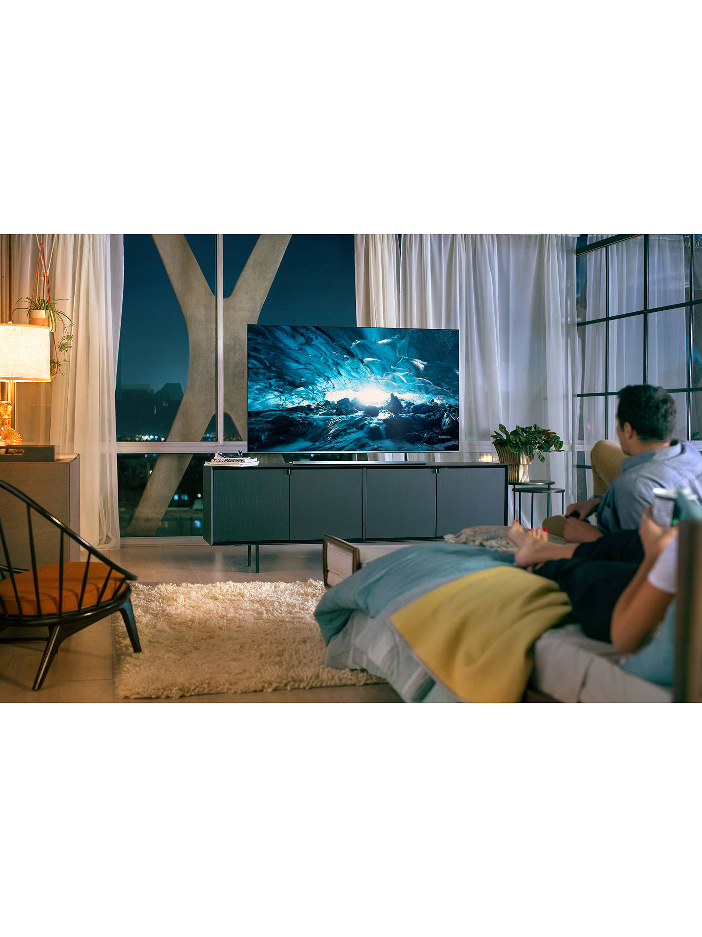 "BuySamsung UE55NU8000 HDR 1000 4K Ultra HD Smart TV, 55"" with TVPlus/Freesat HD, Dynamic Crystal Colour & 360 Design, Ultra HD Certified, Black Online at johnlewis.com"