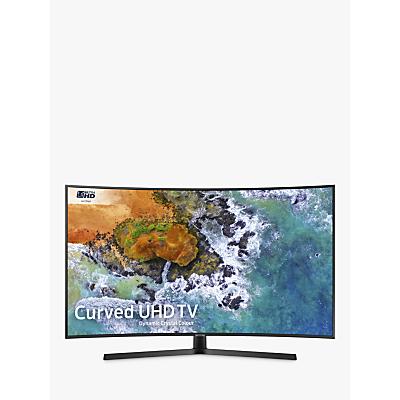 Samsung UE49NU7500 Curved HDR 4K Ultra HD Smart TV, 49 with TVPlus/Freesat HD, Dynamic Crystal Colour & 360 Design, Ultra HD Certified, Black