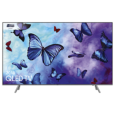 Samsung QE75Q6FN (2018) QLED HDR 1000 4K Ultra HD Smart TV, 75 with TVPlus/Freesat HD & 360 Design, Ultra HD Certified, Silver