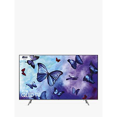 Samsung QE55Q6FN (2018) QLED HDR 1000 4K Ultra HD Smart TV, 55 with TVPlus/Freesat HD & 360 Design, Ultra HD Certified, Silver