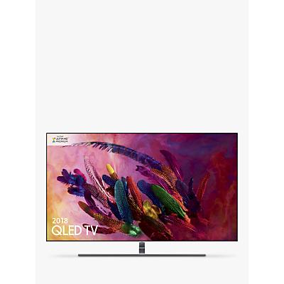 Samsung QE55Q7FN (2018) QLED HDR 1500 4K Ultra HD Smart TV, 55 with TVPlus/Freesat HD & 360 Design, Ultra HD Premium Certified, Silver