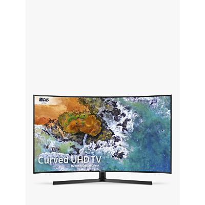 Samsung UE65NU7500 Curved HDR 4K Ultra HD Smart TV, 65 with TVPlus/Freesat HD, Dynamic Crystal Colour & 360 Design, Ultra HD Certified, Black