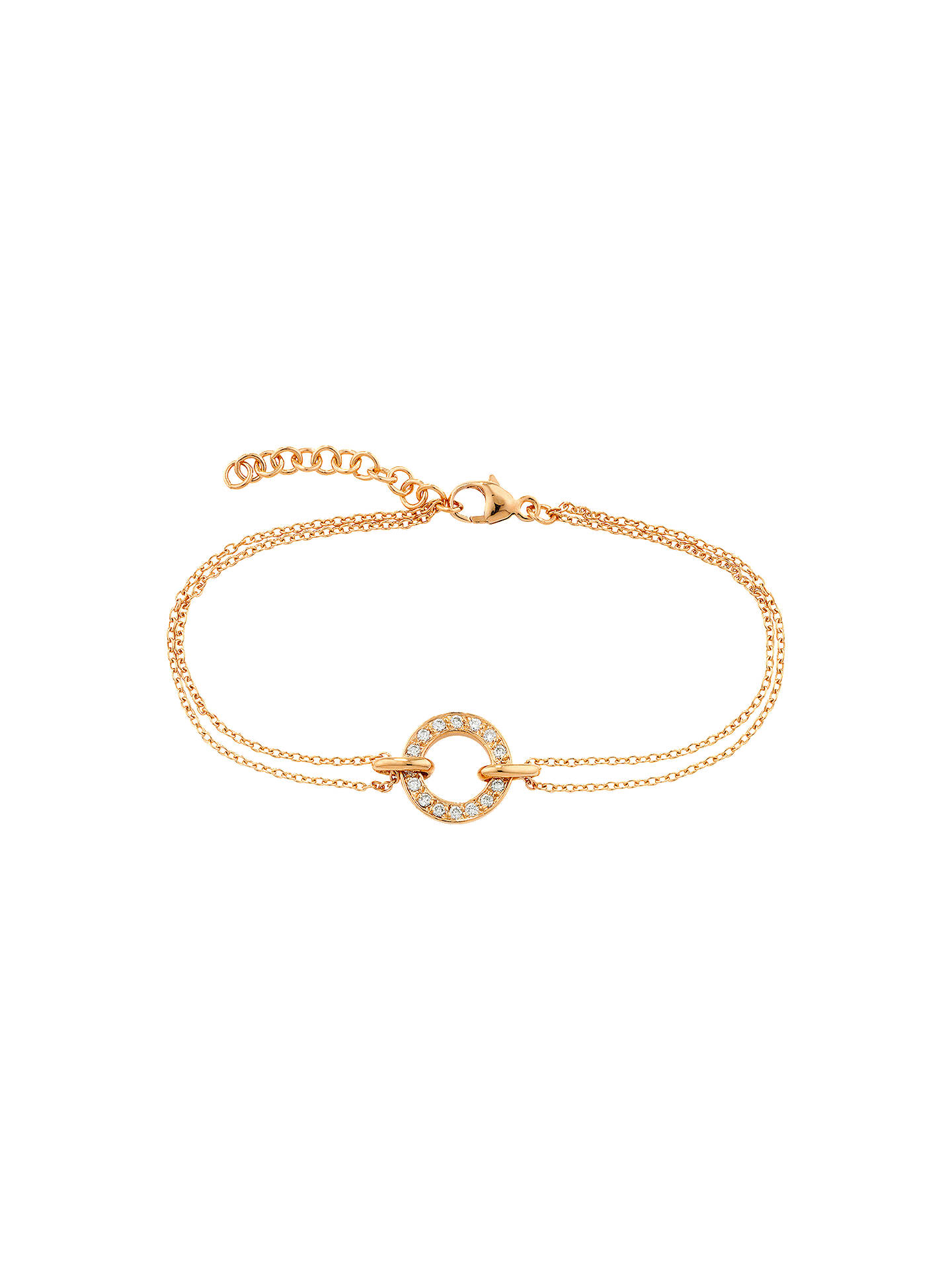 BuyLondon Road 9ct Gold Diamond Circle Charm Meridian Bracelet, Rose Gold Online at johnlewis.com