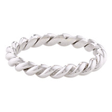 Buy London Road 9ct Gold Stacking Rope Ring, N Online at johnlewis.com