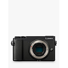 "Buy Panasonic Lumix DC-GX9 Compact System Camera, 4K Ultra HD, 20.3MP, Wi-Fi, Bluetooth, Tiltable EVF, 3"" Tiltable Touch Screen, Body Only, Black Online at johnlewis.com"