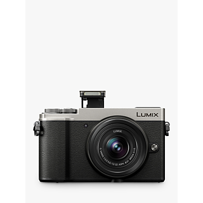 Panasonic Lumix DC-GX9 Compact System Camera with 12-32mm IS Lens, 3x Optical Zoom, 4K Ultra HD, 20.3MP, Wi-Fi, Bluetooth, Tiltable EVF, 3 Tiltable Touch Screen, Silver