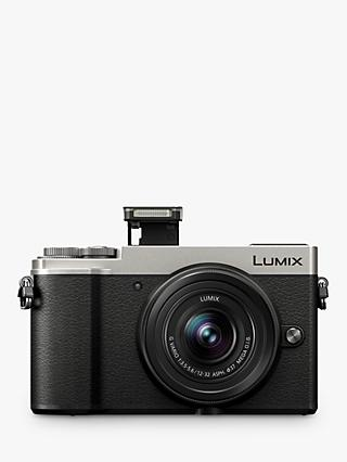 "Panasonic Lumix DC-GX9 Compact System Camera with 12-32mm IS Lens, 3x Optical Zoom, 4K Ultra HD, 20.3MP, Wi-Fi, Bluetooth, Tiltable EVF, 3"" Tiltable Touch Screen, Silver"