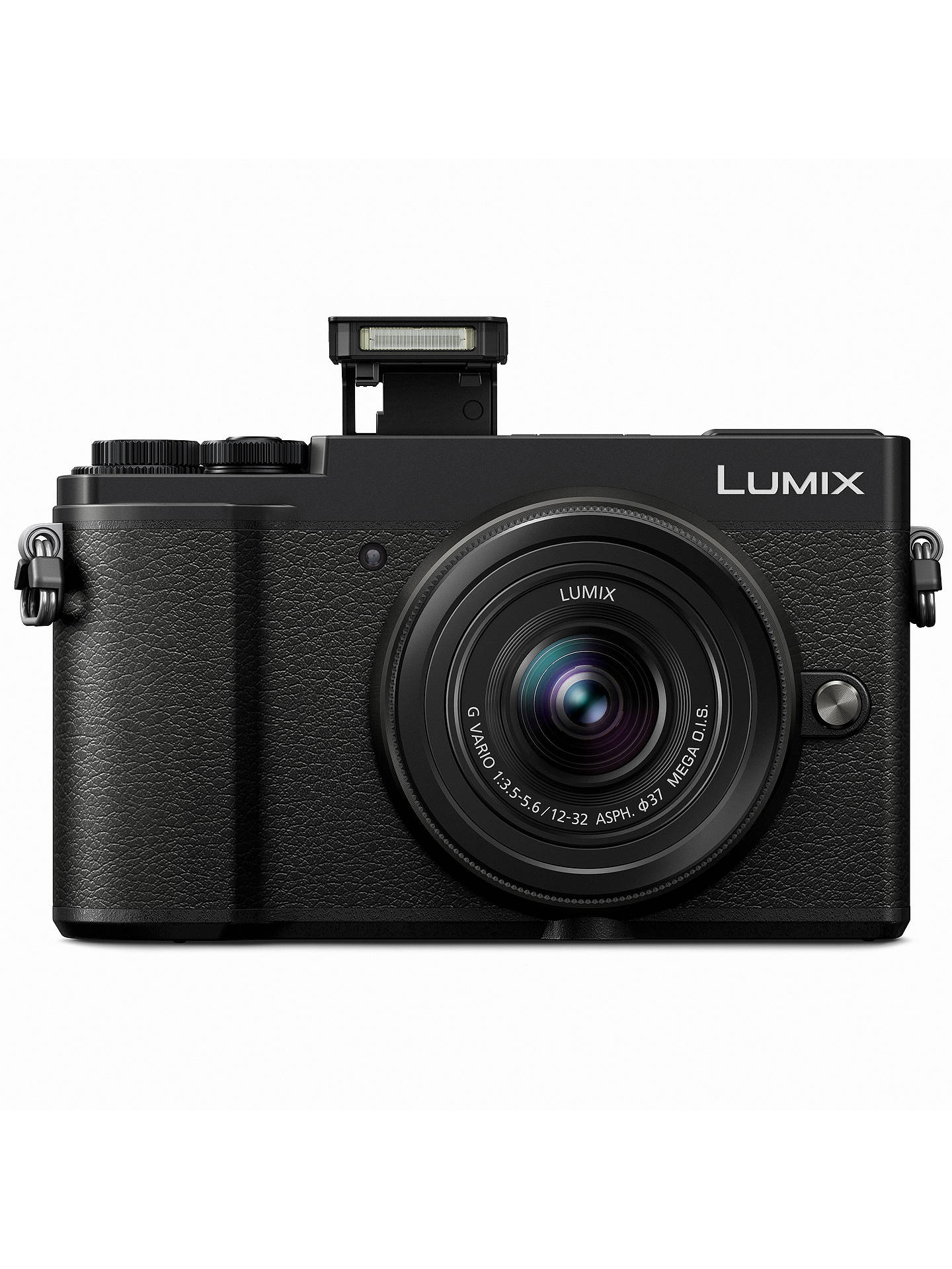 "BuyPanasonic Lumix DC-GX9 Compact System Camera with 12-32mm IS Lens, 3x Optical Zoom, 4K Ultra HD, 20.3MP, Wi-Fi, Bluetooth, Tiltable EVF, 3"" Tiltable Touch Screen, Black Online at johnlewis.com"