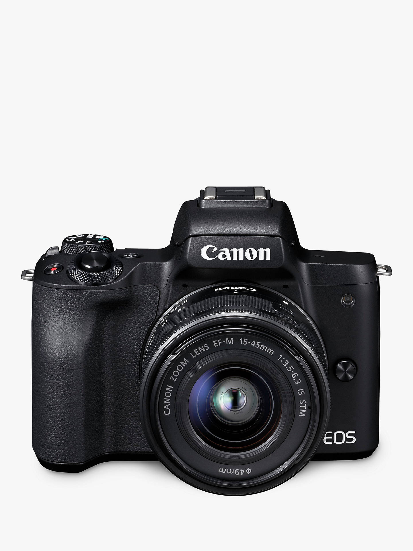 Canon EOS M50 Compact Camera with EF-M 15-45 mm f/3.5-6.3 IS STM Lens (Black)