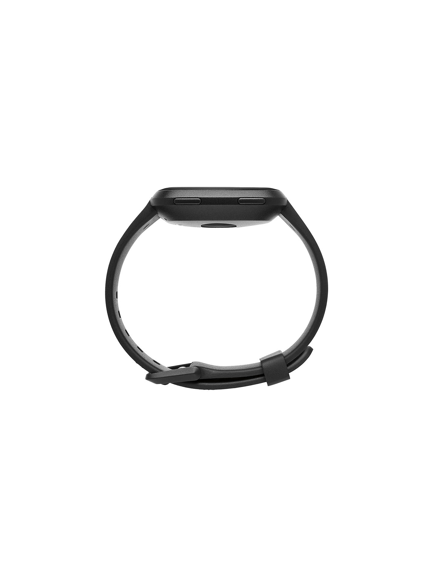 Buy Fitbit Versa Smart Fitness Watch, Black/Aluminium Online at johnlewis.com
