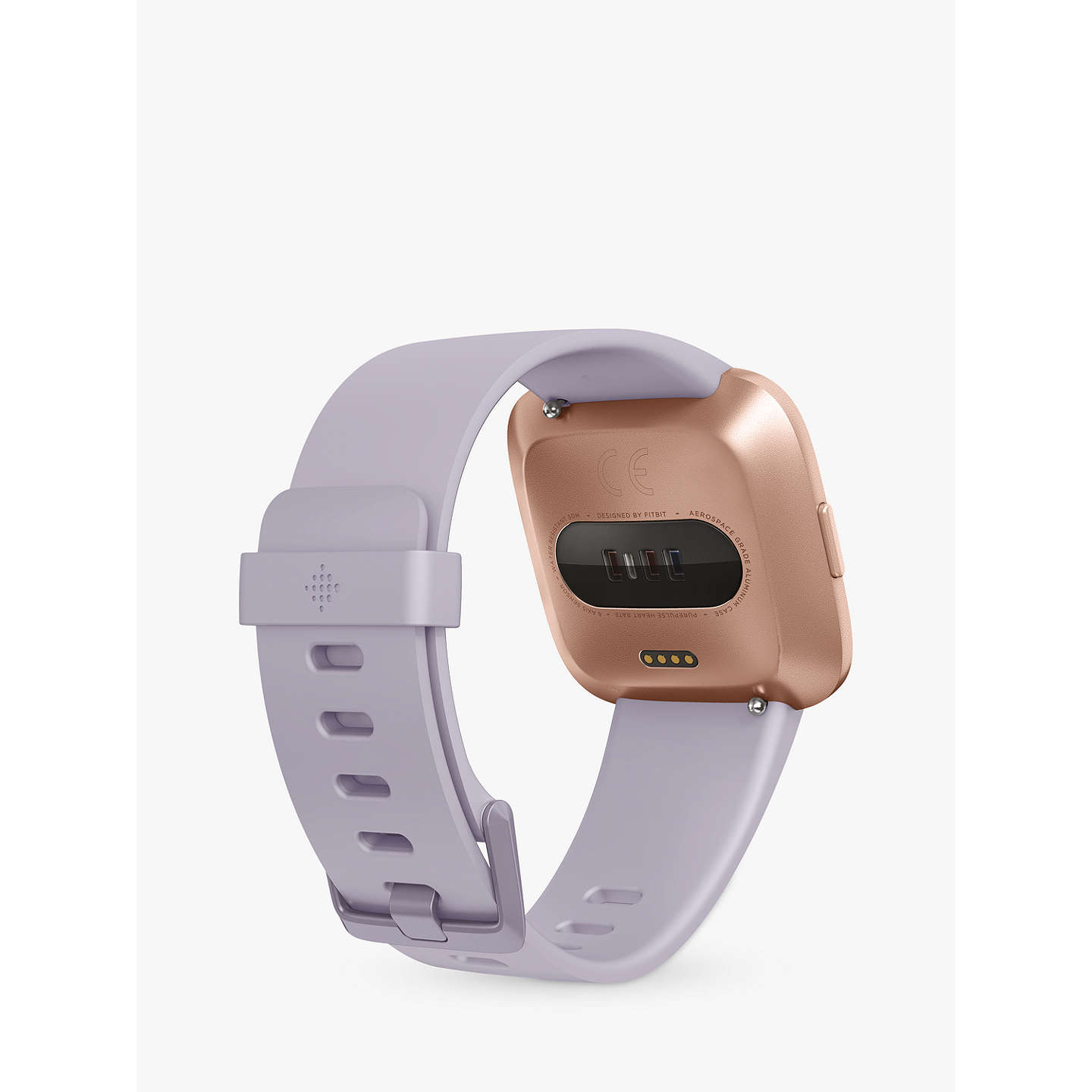 BuyFitbit Versa Smart Fitness Watch, Periwinkle/Rose Gold Online at johnlewis.com