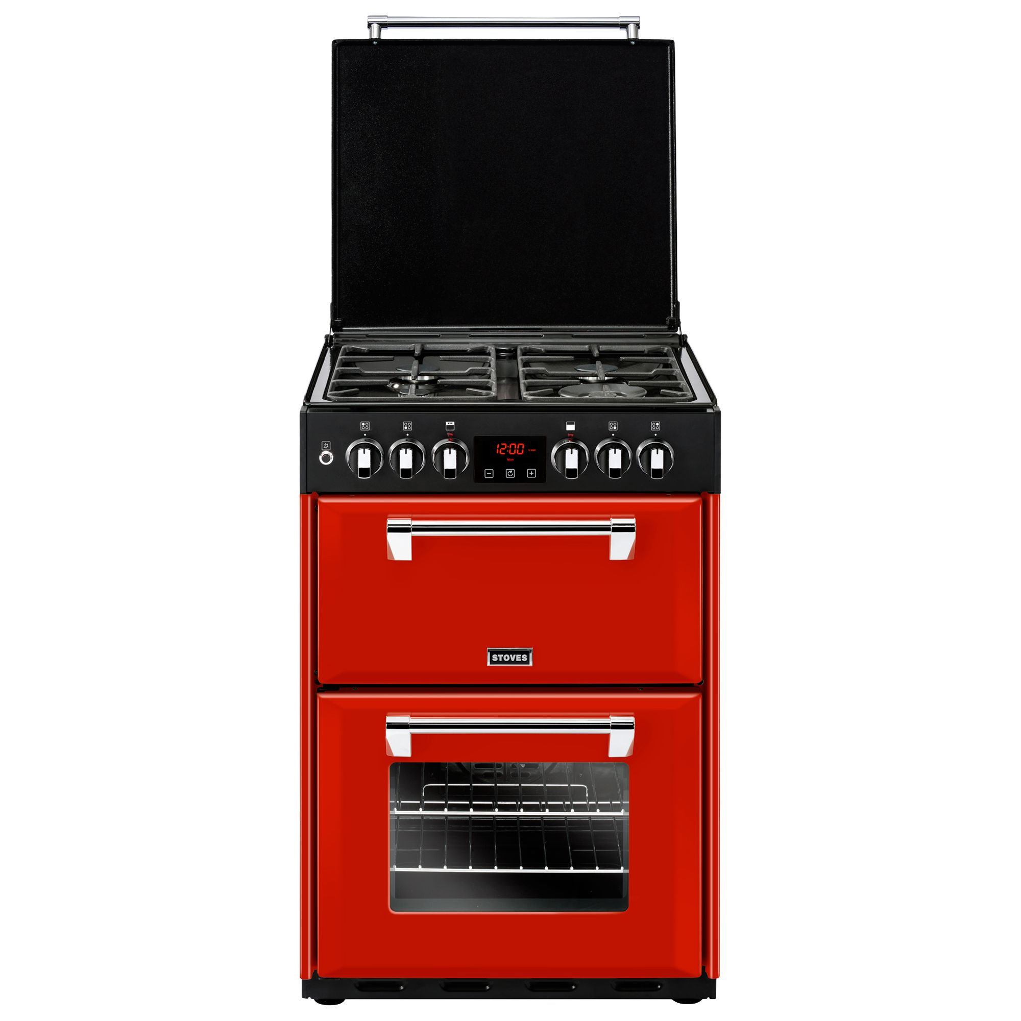 Stoves Stoves Richmond 600DF Dual Fuel Range Cooker, Jalapeño Red