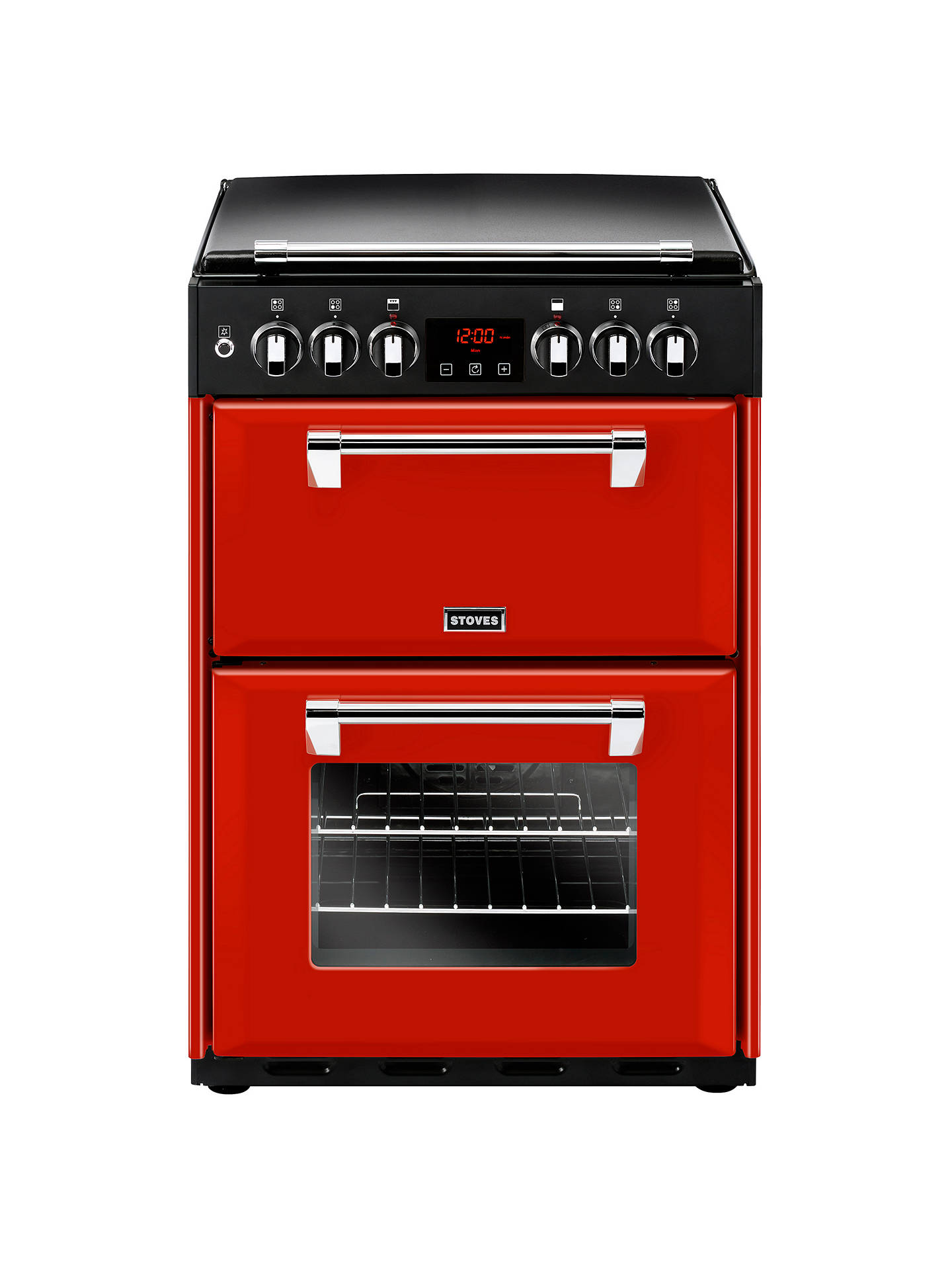 Buy Stoves Richmond 600DF Dual Fuel Range Cooker, Jalapeño Red Online at johnlewis.com