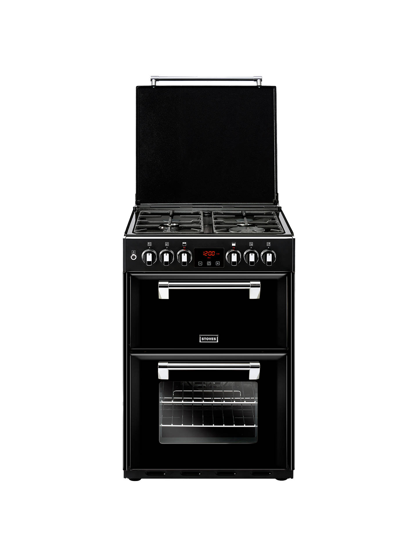 Buy Stoves Richmond 600DF Dual Fuel Range Cooker, Black Online at johnlewis.com