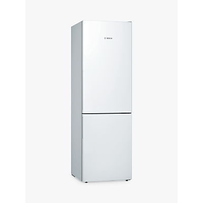 Bosch KGE36VW4A Freestanding Fridge Freezer, A+++ Energy Rating, 60cm Wide, White