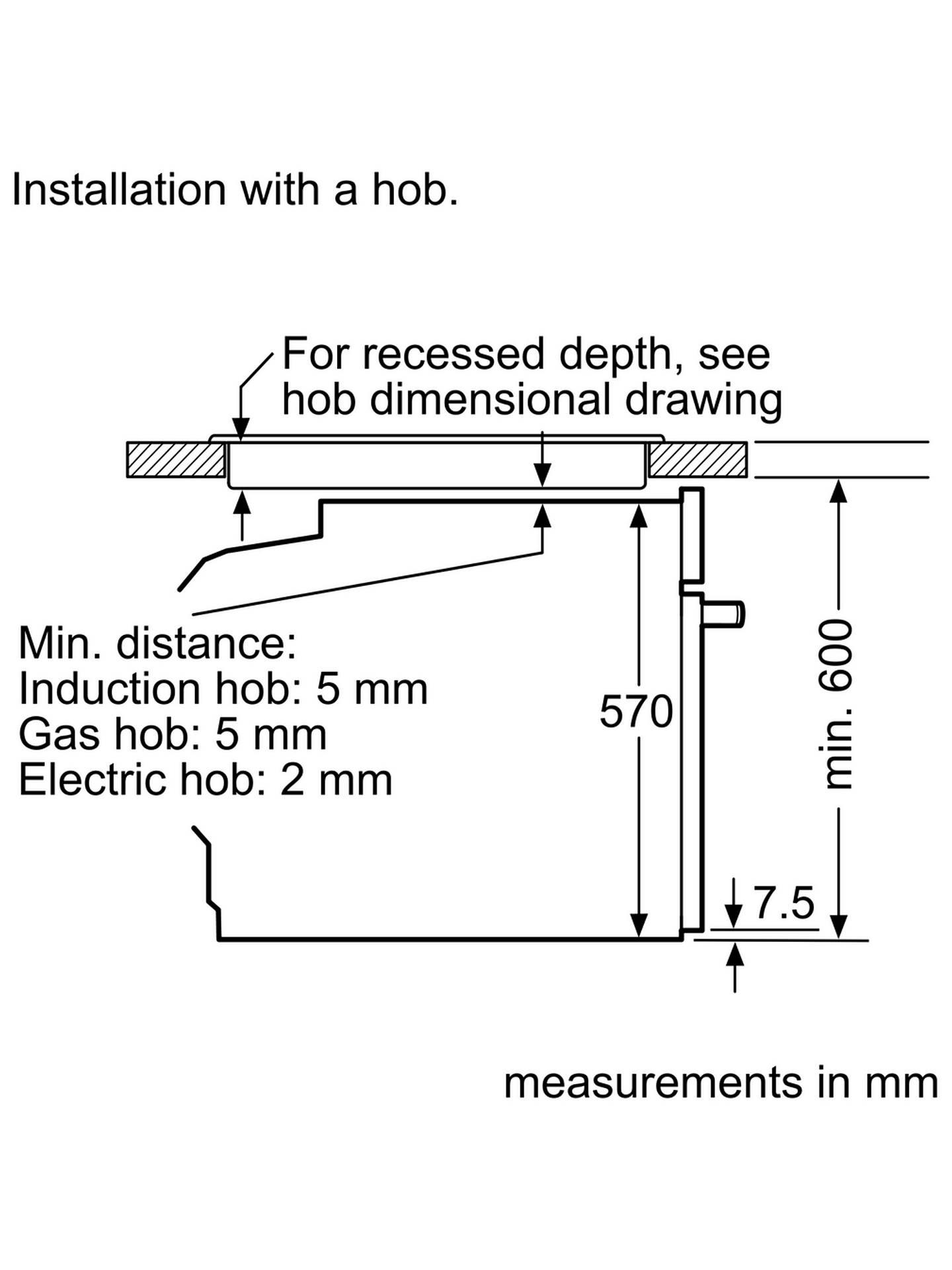 Bosch Hba5780s0b Built In Single Oven Stainless Steel At John Lewis Antler Lamp Wiring Kit Buybosch Online