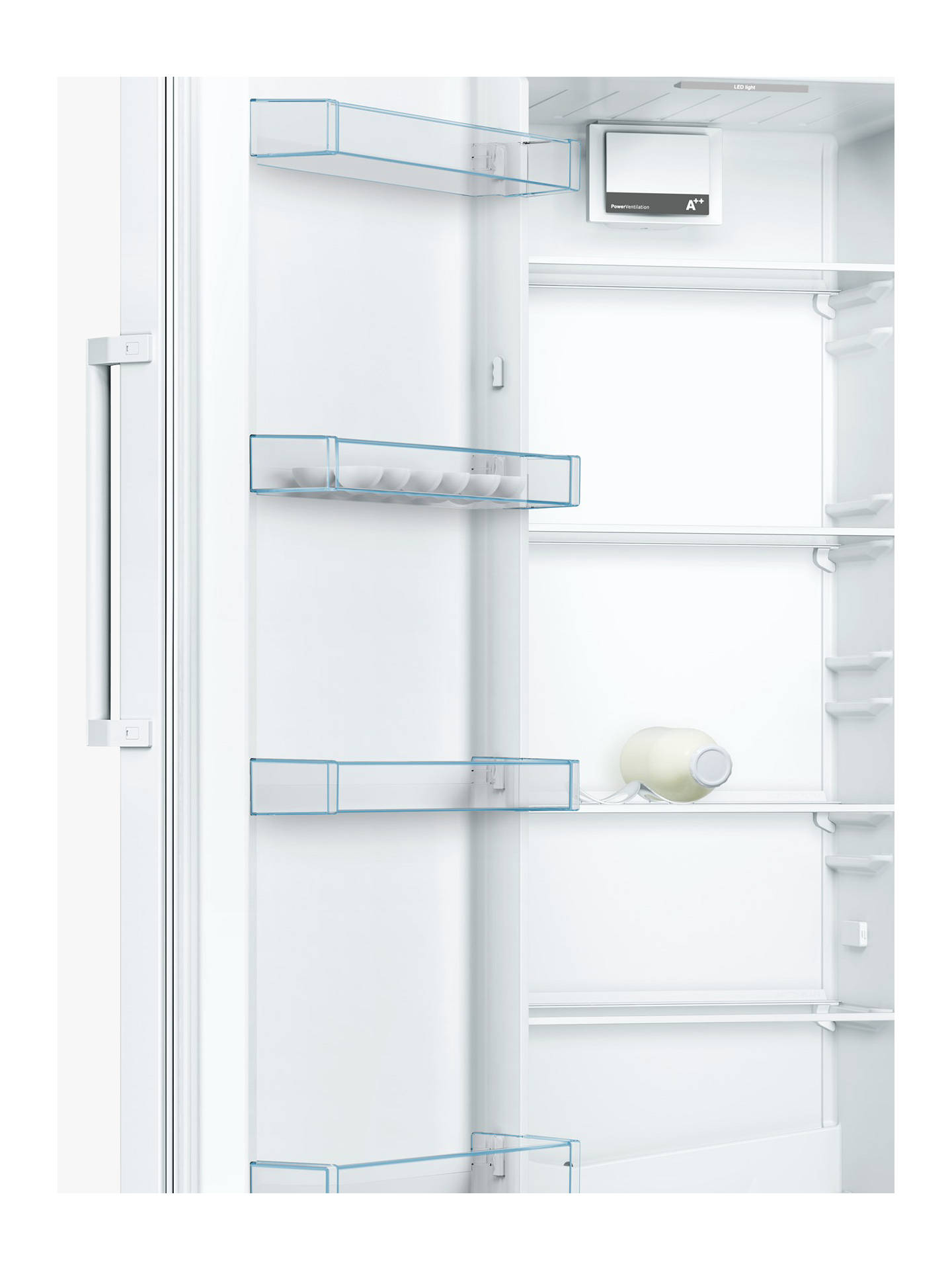 Buy Bosch KSV29NW3PG Tall Larder Fridge, A++ Energy Rating, 60cm Wide, White Online at johnlewis.com