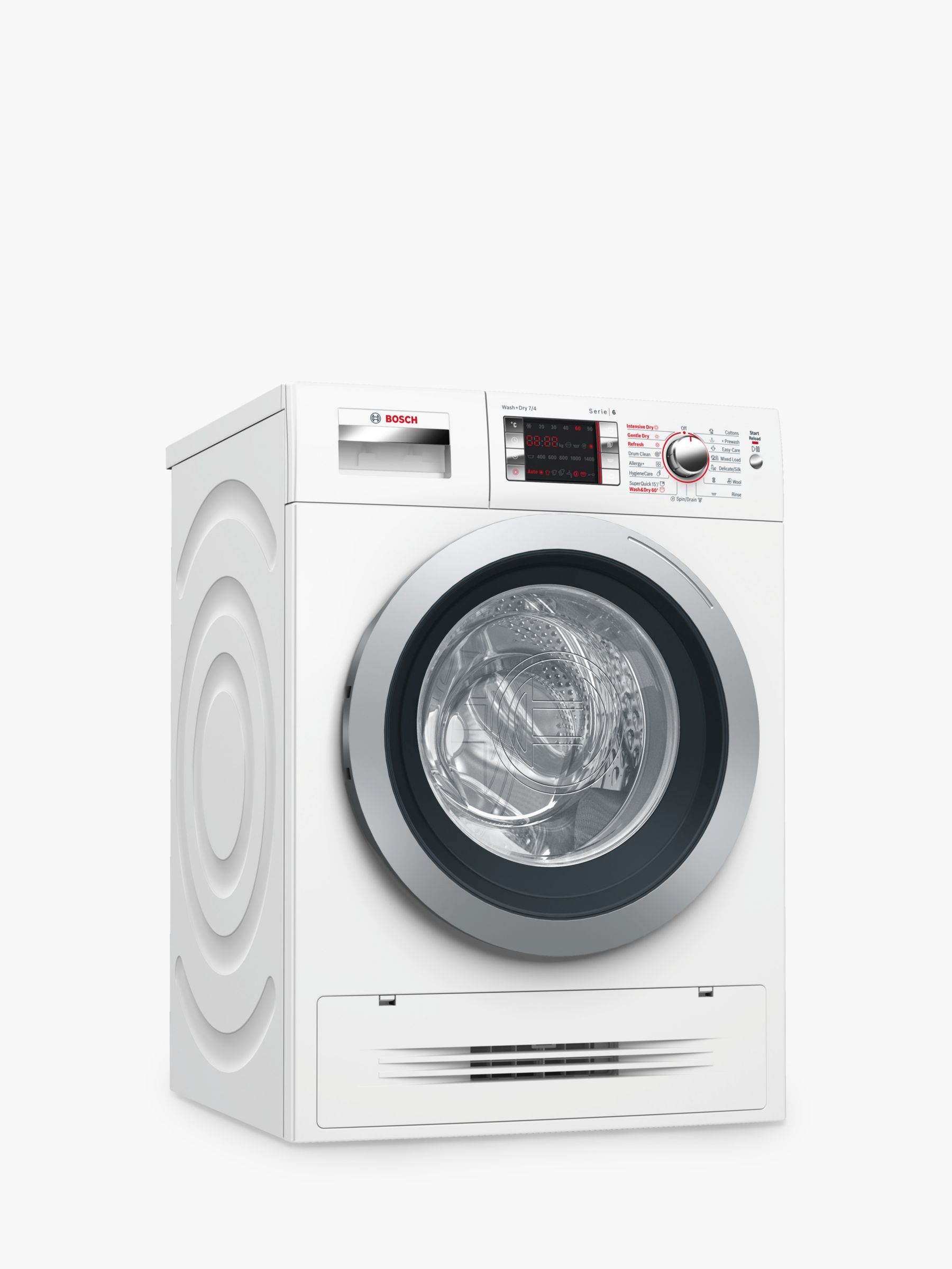 Bosch Bosch WVH28424GB Washer Dryer, 7kg Wash/4kg Dry Load, A Energy Rating, 1400rpm Spin, White