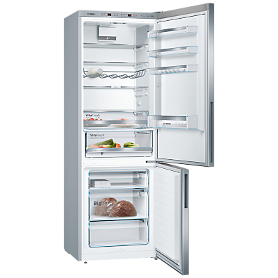 Bosch KGE49VI4AG Freestanding Fridge Freezer, A+++ Energy Rating, 93cm Wide, Silver