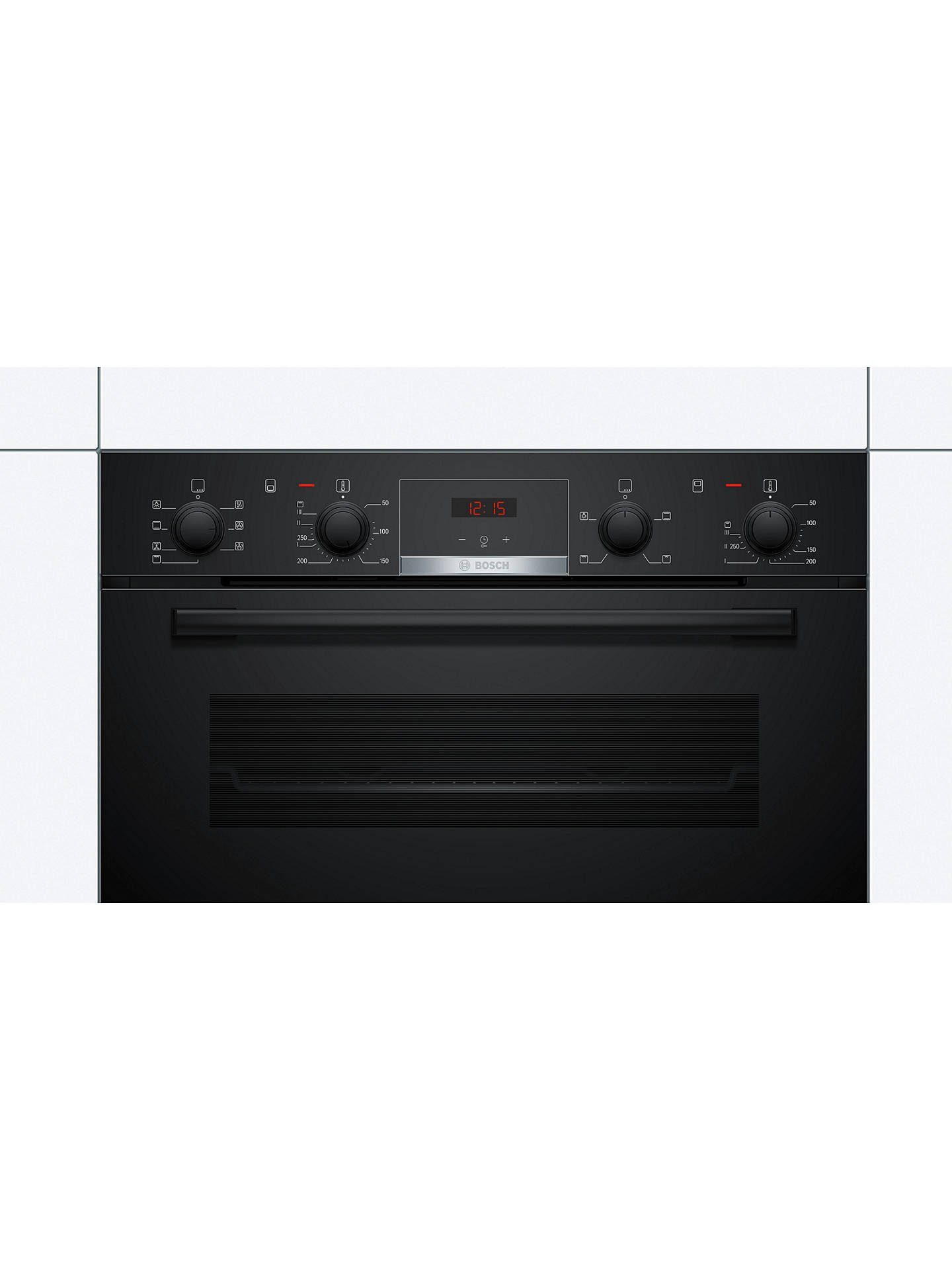 BuyBosch Serie 4 MBS533BB0B Built-In Double Oven, Black Online at johnlewis.com