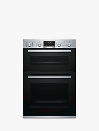 Bosch MBA5575S0B Built-In Double Oven, Stainless Steel