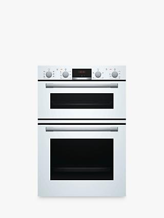 Bosch Serie 4 MBS533BW0B Built-In Double Oven, White