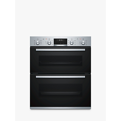 Image of Bosch NBA5350S0B Serie 6 Multifunction Electric Built-under Double Oven With Catalytic Cleaning - Stainless Steel