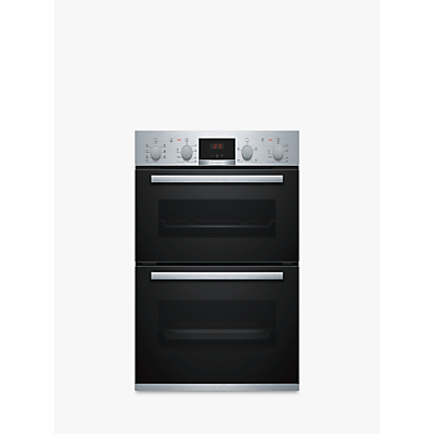Image of Bosch Built Under Double Oven in Brushed Steel NBS533BS0B
