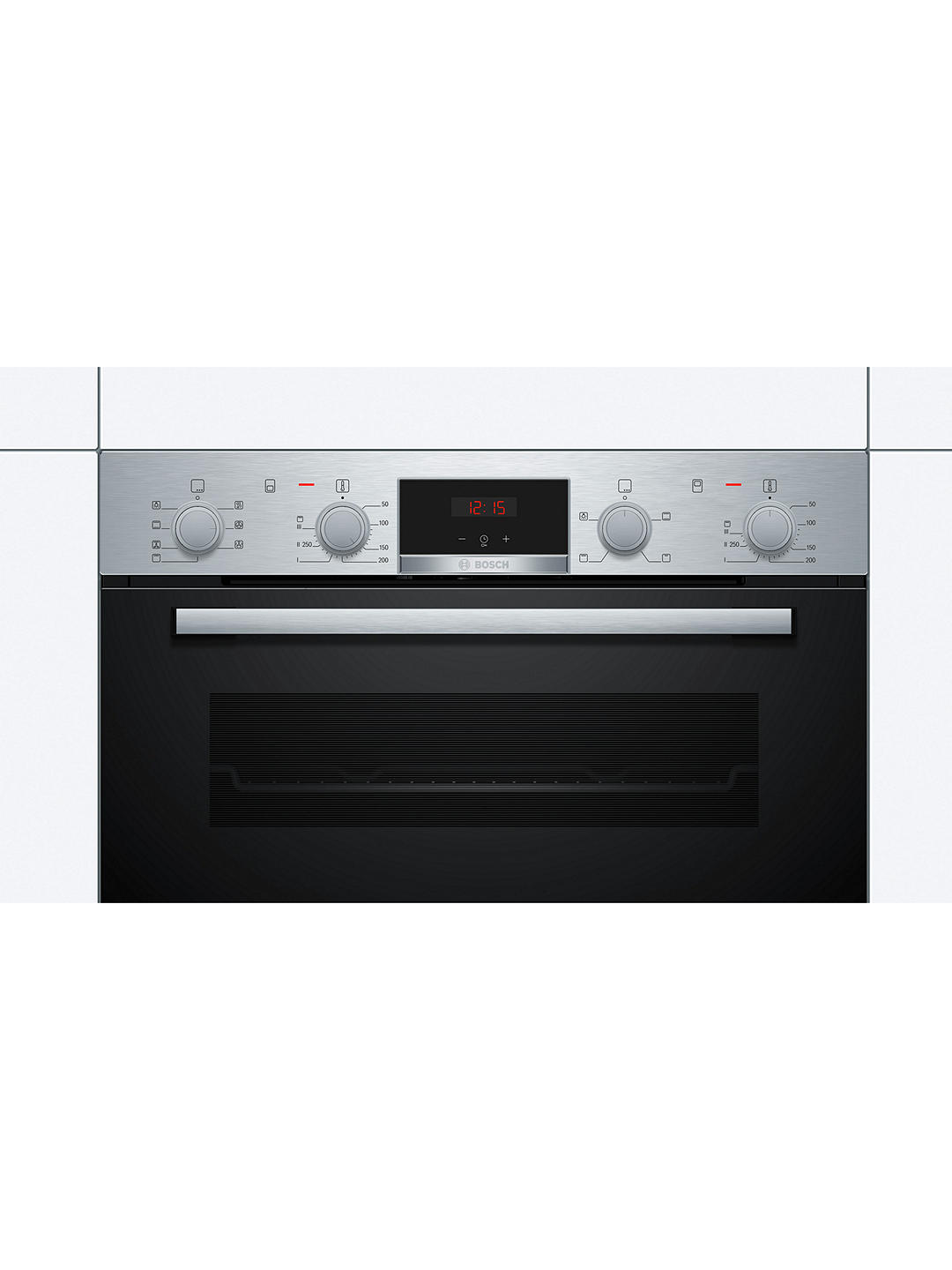 Buy Bosch Serie 4 NBS533BS0B Built-Under Double Oven, Stainless Steel Online at johnlewis.com
