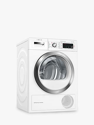 Bosch WTWH7561GB Condenser Tumble Dryer with Heat Pump, 9kg Load, A++ Energy Rating, White