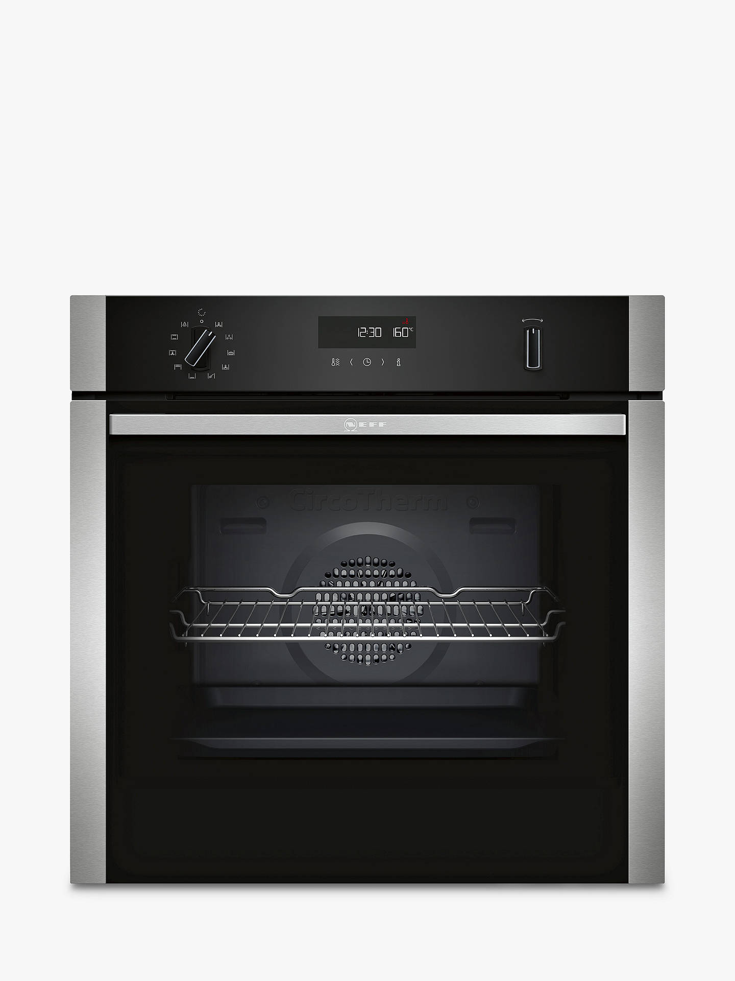 Neff B2 Ach7 Hn0 B Built In Pyrolytic Single Oven, Stainless Steel by Neff