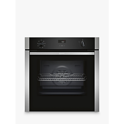 Image of Neff B4ACF1AN0B N50 6 Function Slide And Hide Single Oven With Catalytic Cleaning - Stainless Steel