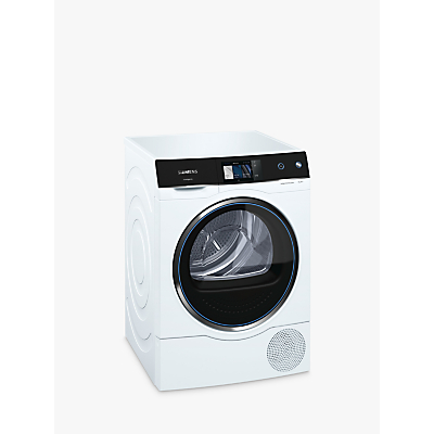 Siemens Avantgarde WT7XH940GB Condenser Heat Pump Tumble Dryer, 9kg Load, A+++ Energy Rating, White