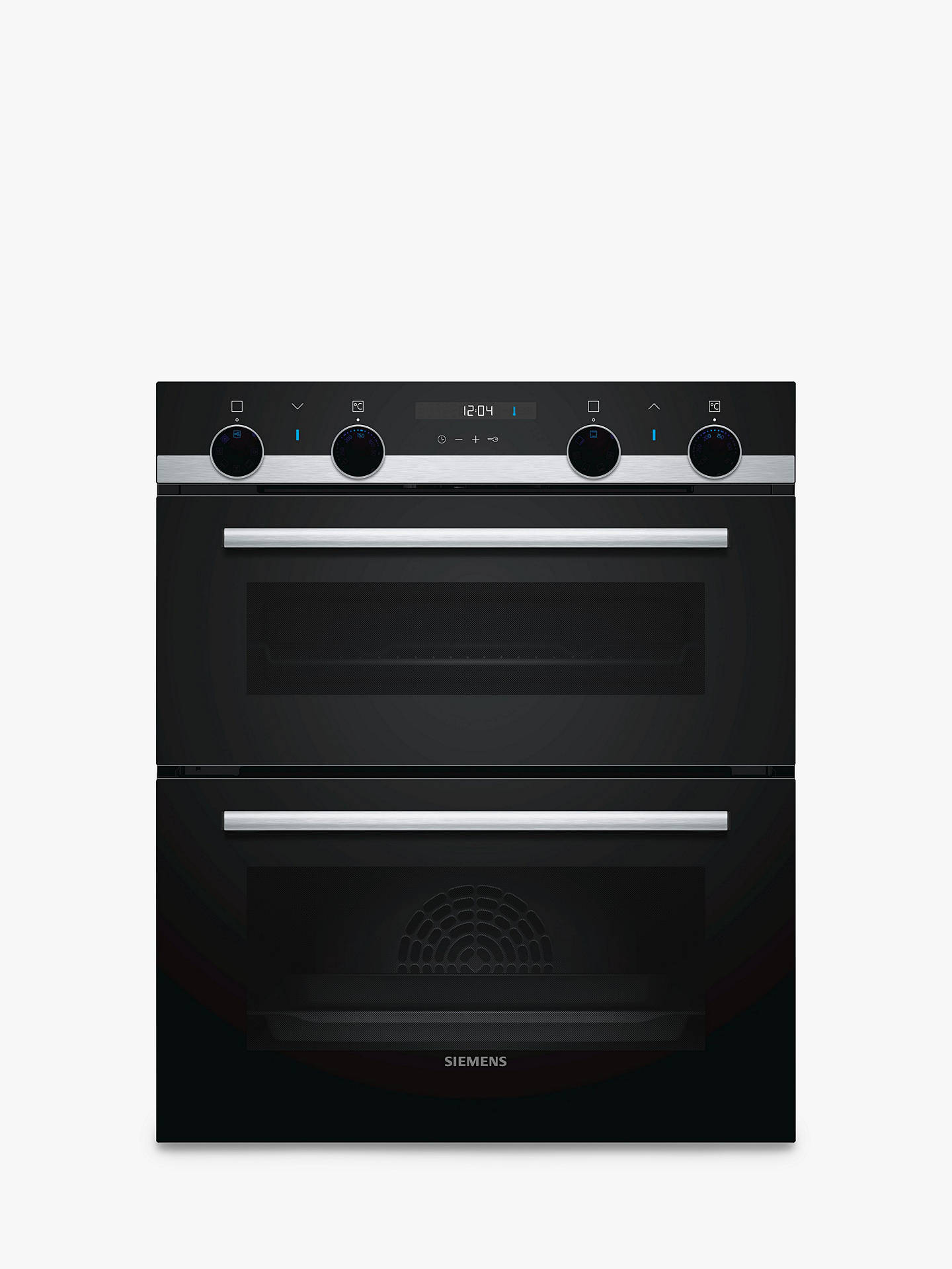 BuySiemens NB557ABS0B Built-In Double Oven, Black Online at johnlewis.com