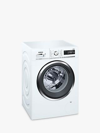 Siemens WM14W5H0GB Freestanding Washing Machine with Home Connect, 9kg Load, A+++ Energy Rating, 1400rpm Spin, White