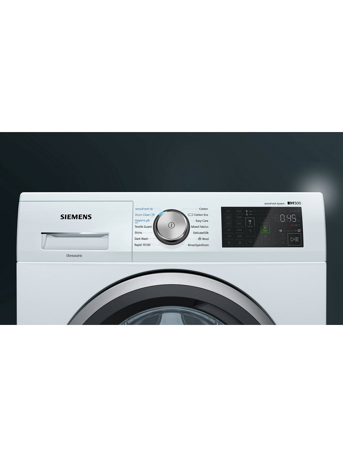 BuySiemens WM14T790GB Freestanding Washing Machine, 9kg Load, A+++ Energy Rating, 1400rpm Spin, White Online at johnlewis.com