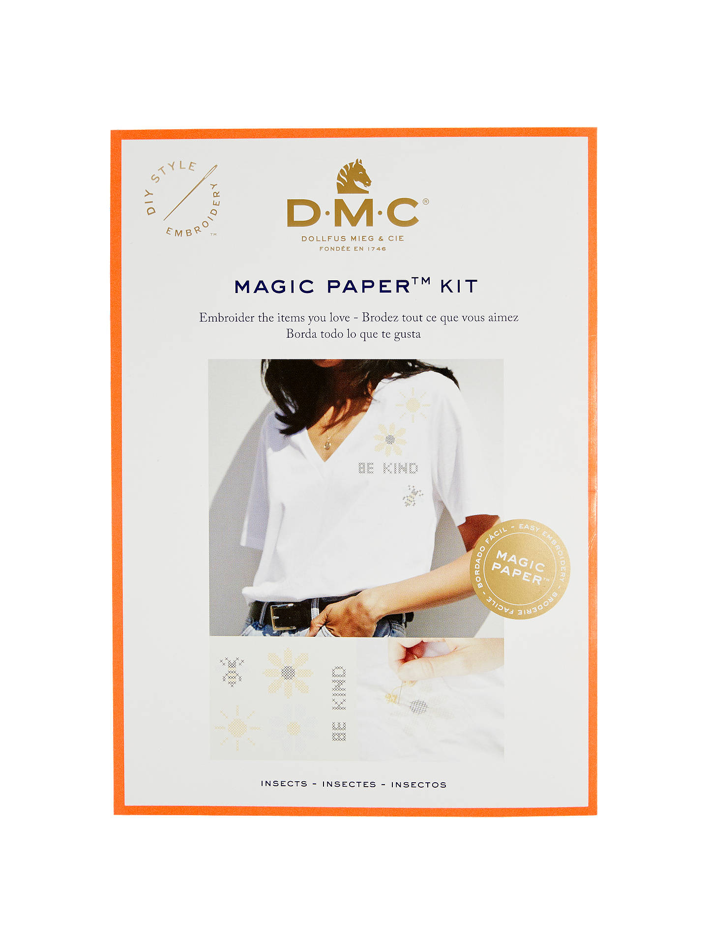 BuyDMC Magic Paper Insect Cross Stitch Kit Online at johnlewis.com